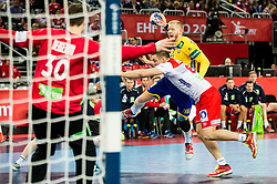 Jim Gottfridsson of Sweden during handball match between National teams of Sweden and Norway on Day 7 in Main Round of Men's EHF EURO 2018, on January 24, 2018 in Arena Zagreb, Zagreb, Croatia.  Photo by Vid Ponikvar / Sportida