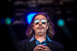 "Jake Black of Alabama 3 play the main stage. Sunday, Rockness 2013, the annual music festival which took place in Scotland at Clune Farm, Dores, on the banks of Loch Ness, near Inverness in the Scottish Highlands. The festival is known as ""the most beautiful festival in the world""."