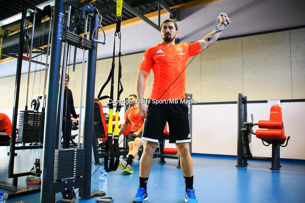 Alexandre Dumoulin - 27.01.2015 - Entrainement XV de France - Canet en Rousillon -<br />Photo : Nicolas Guyonnet / Icon Sport
