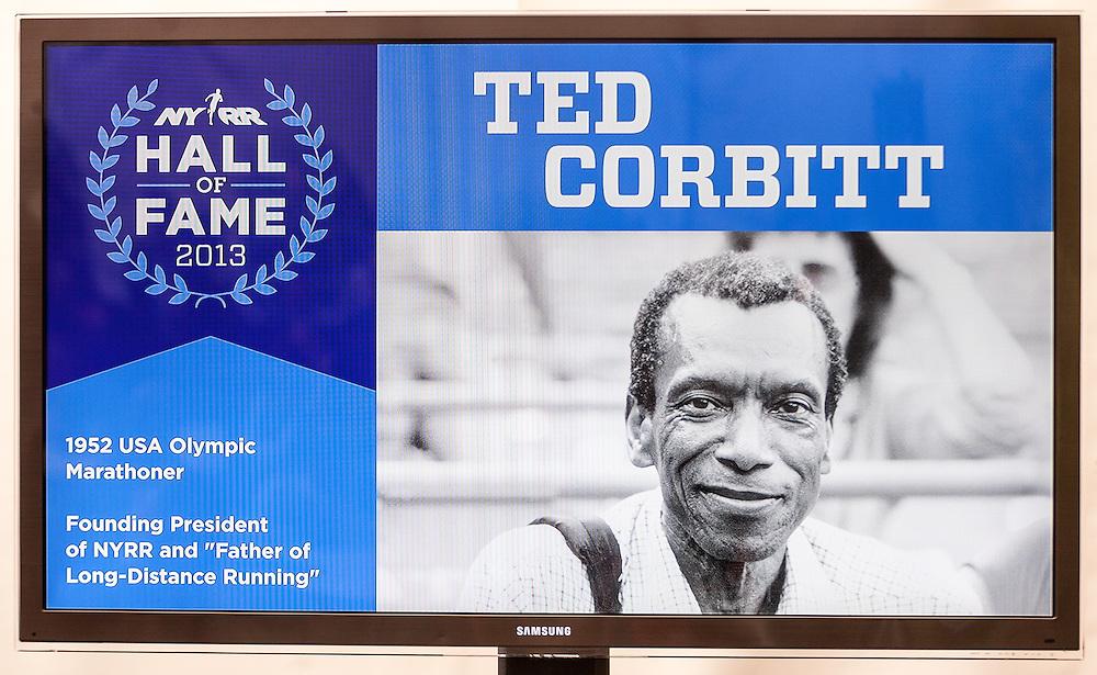 ING New York City Marathon: NYRR Hall of Fame induction, Ted Corbitt son