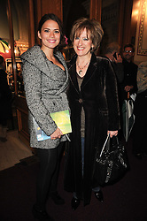 Left to right, HAYLEY ATWELL and her mother ALLISON ATWELL at the gala opening night of Cirque du Soleil's Varekai at the Royal Albert Hall, London on 5th January 2010.