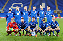 The Iceland squad to face Wales in the international friendly - Photo mandatory by-line: Dougie Allward/JMP - Tel: Mobile: 07966 386802 03/03/2014 -
