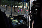 Students get off the bus home from school in Solon, Iowa on Tuesday, March 8, 2016. The sprawling district is home to many families with parents working in Cedar Rapids and Iowa City, which are each within a 30-minute drive.