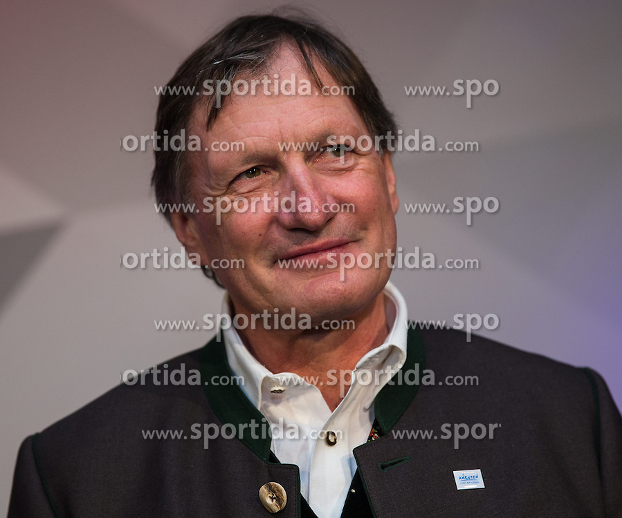 12.02.2014, Austria Tirol House, Sochi, RUS, Sochi 2014, Kärnten Abend, im Bild die beiden Olympia Sieger Franz Klammer (AUT) // austrians olympic Champion Franz Klammer at the Carinthia evening in Austria house Tyrol at the Olympic Winter Games 'Sochi 2014' at the Austria Tirol House in Krasnaya Polyana, Russia on 2014/02/12. EXPA Pictures © 2014, PhotoCredit: EXPA/ Johann Groder