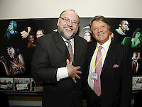 Jimmy Devlin and Fran Nevrkla (PPL Chairman and CEO). The BRIT School Industry Day, Croydon, London..Thursday, Sept.22, 2011 (John Marshall JME)