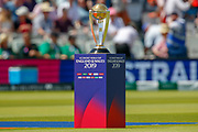 ICC World Cup trophy before the ICC Cricket World Cup 2019 match between New Zealand and Australia at Lord's Cricket Ground, St John's Wood, United Kingdom on 29 June 2019.