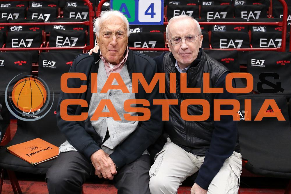 Sandro Gamba e Dan Peterson, EA7 Emporio Armani Milano vs Vanoli Cremona LBA Serie A 8^ giornata di ritorno stagione 2016/2017 Mediolanum Forum Assago, Milano 19/03/2017