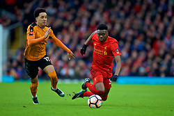 LIVERPOOL, ENGLAND - Saturday, January 28, 2017: Liverpool's Oviemuno Ovie Ejaria in action against Wolverhampton Wanderers' Hélder Costa during the FA Cup 4th Round match at Anfield. (Pic by David Rawcliffe/Propaganda)