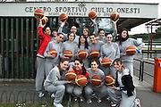ROMA 27.03.2010<br /> PROGETTO COLLEGE ITALIA <br /> NELLA FOTO: LE ATLETE DEL TEAM COLLEGE ITALIA AL CENTRO SPORTIVO CONI GIULIO ONESTI ALL'ACQUA CETOSA PRIMA DI INIZIARE UNA SEDUTA DI ALLENAMENTO