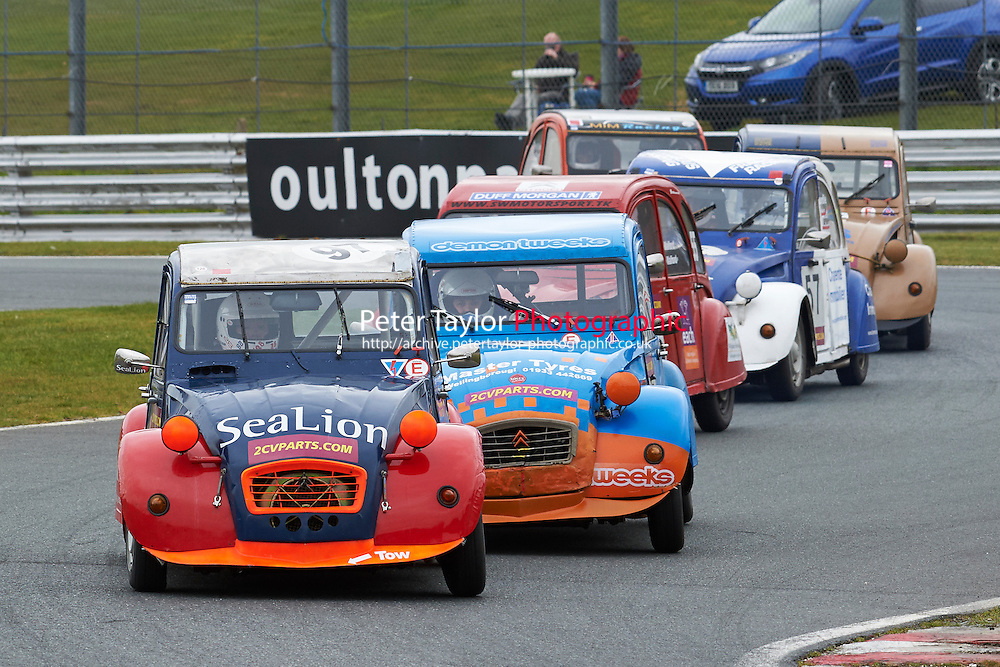 #97 Peter SPARROW Citroen 2CV 602 during 2CVParts.com Classic Championship as part of the BARC NW - Championship Raceday  at Oulton Park, Little Budworth, Cheshire, United Kingdom. March 19 2016. World Copyright Peter Taylor/PSP. Copy of publication required for printed pictures.  Every used picture is fee-liable.
