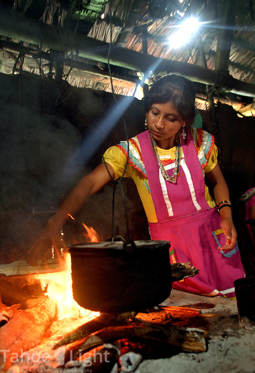 A tzeltal indian woman in the Chiapas,Mexico town of patiuitz.