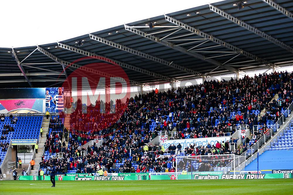Bristol City fans take their seats in the away end - Rogan/JMP - 03/11/2018 - Madejski Stadium - Reading, England - Reading FC v Bristol City - Sky Bet Championship.