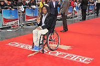 LONDON - JULY 10: Ade Adepitan attended a special 'Great British Premiere' to mark the re-release of the 1981 film 'Chariots Of Fire' at the Empire Cinema Leicester Square, London, UK. July 10, 2012. (Photo by Richard Goldschmidt)