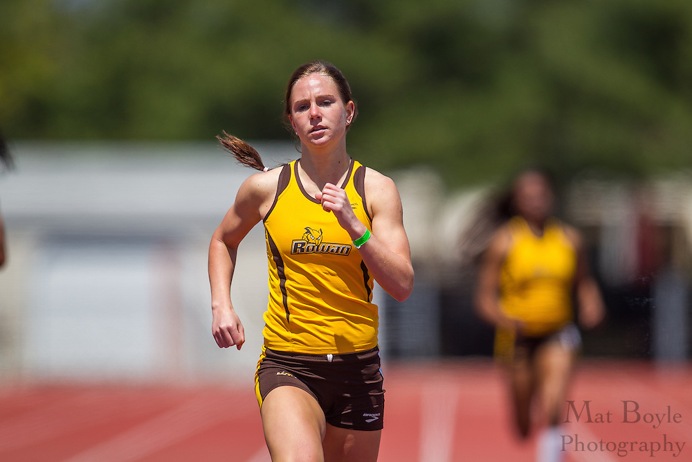 Rowan University's Brianna Crofton competes in the women's 400 meter at the NJAC Track and Field Championships at Richard Wacker Stadium on the campus of  Rowan University  in Glassboro, NJ on Sunday May 5, 2013. (photo / Mat Boyle)