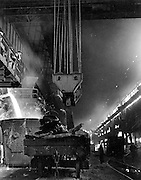 Steel works in Middlesborough 1940s
