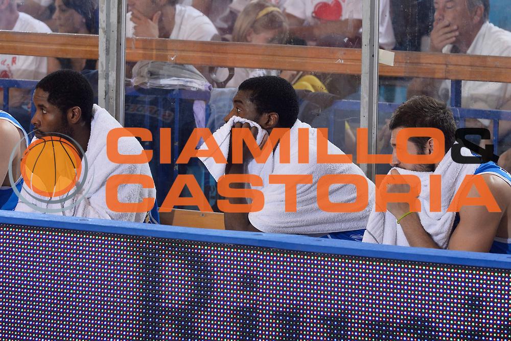 DESCRIZIONE : Reggio Emilia Lega A 2014-15 Grissin Bon Reggio Emilia - Banco di Sardegna Sassari playoff finale gara 2 <br /> GIOCATORE :Lawal Shane Dyson Jerome Formenti Matteo<br /> CATEGORIA : Delusione<br /> SQUADRA : Banco di Sardegna Sassari<br /> EVENTO : LegaBasket Serie A Beko 2014/2015<br /> GARA : Grissin Bon Reggio Emilia - Banco di Sardegna Sassari playoff finale gara 2<br /> DATA : 16/06/2015 <br /> SPORT : Pallacanestro <br /> AUTORE : Agenzia Ciamillo-Castoria / Richard Morgano<br /> Galleria : Lega Basket A 2014-2015 Fotonotizia : Reggio Emilia Lega A 2014-15 Grissin Bon Reggio Emilia - Banco di Sardegna Sassari playoff finale gara 2 Predefinita :