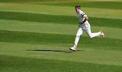 Somerset's Jamie Overton - Photo mandatory by-line: Harry Trump/JMP - Mobile: 07966 386802 - 14/04/15 - SPORT - CRICKET - LVCC County Championship - Day 3 - Somerset v Durham - The County Ground, Taunton, England.