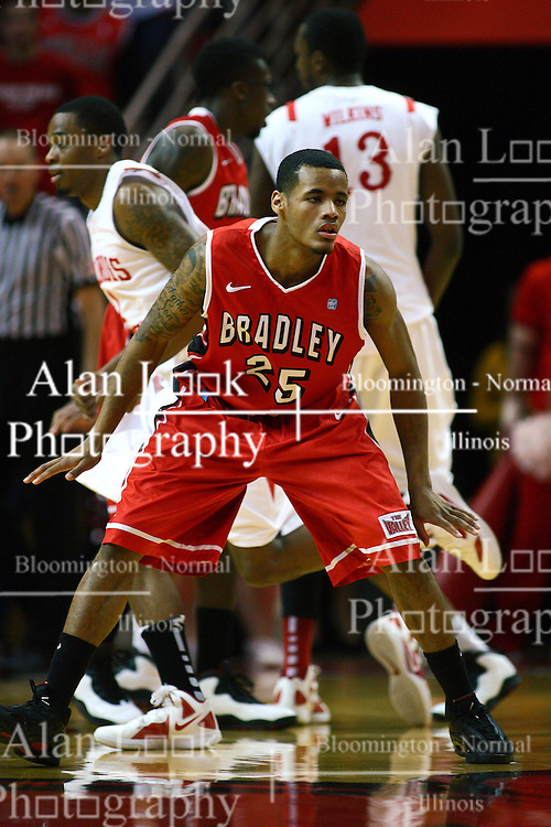 04 February 2012:  Walt Lemon Jr.  during an NCAA Missouri Valley Conference mens basketball game where the Bradley Braves lost to the Illinois State Redbirds 78 - 48 in Redbird Arena, Normal IL