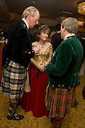SIR IAN LOWSON, LADY LOWSON AND THE EARL OF EROLL, The Royal Caledonian Ball 2008. In aid of the Royal Caledonian Ball Trust. Grosvenor House. London. 2 May 2008.  *** Local Caption *** -DO NOT ARCHIVE-? Copyright Photograph by Dafydd Jones. 248 Clapham Rd. London SW9 0PZ. Tel 0207 820 0771. www.dafjones.com.