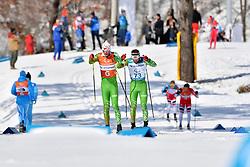 HOLUB Yury BLR B3 Guide: BUDZILOVICH Dzmitry competing in the ParaSkiDeFond, Para Nordic 10km during the PyeongChang2018 Winter Paralympic Games, South Korea.