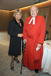 JUDITH CHALMERS and REV.JOHN ROBSON at a tribute lunch in honour of Michael Aspel hosted by The Lady Taverners at The Dorchester, Park Lane, London on 14th November 2008.