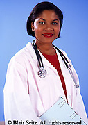 Medical Doctor, Physician at Work, African American Female Doctor Portrait