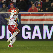 Thierry Henry, New York Red Bulls, talks with coach Mike Petke during the New York Red Bulls Vs Toronto FC, Major League Soccer regular season match at Red Bull Arena, Harrison, New Jersey. USA. 11th October 2014. Photo Tim Clayton