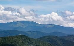 June 13, 2018 - Zakarpattia Region, Ukraine - Clouds hover over the mountains as seen from the Polonyna Vizhen, Svaliava district, Zakarpattia Region, western Ukraine, June 13, 2018. A polonyna is an area of subalpine and alpine meadows in the Ukrainian Carpathians used as pastureland. Ukrinform. (Credit Image: © Gudak/Ukrinform via ZUMA Wire)