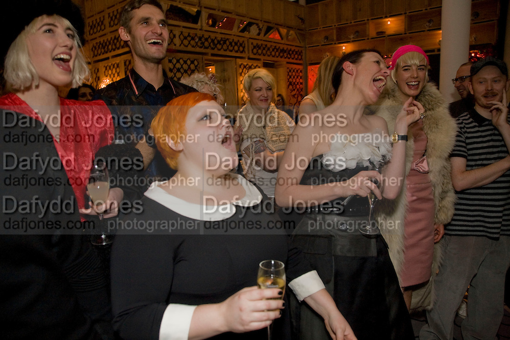BETH DITTO; KATIE GRAND; AGYNESS DEYN;, Kate Grand hosts a Love Tea and Treasure hunt at Flash. Royal Academy. Burlington Gardens. London. 10 december 2008 *** Local Caption *** -DO NOT ARCHIVE-© Copyright Photograph by Dafydd Jones. 248 Clapham Rd. London SW9 0PZ. Tel 0207 820 0771. www.dafjones.com.<br /> BETH DITTO; KATIE GRAND; AGYNESS DEYN;, Kate Grand hosts a Love Tea and Treasure hunt at Flash. Royal Academy. Burlington Gardens. London. 10 december 2008