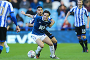 Blackburn Rovers midfielder Lewis Travis (27) pressured by Sheffield Wednesday midfielder Massimo Luongo (21) during the EFL Sky Bet Championship match between Sheffield Wednesday and Blackburn Rovers at Hillsborough, Sheffield, England on 18 January 2020.