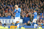 Everton midfielder Steven Pienaar  during the Barclays Premier League match between Everton and Swansea City at Goodison Park, Liverpool, England on 24 January 2016. Photo by Simon Davies.