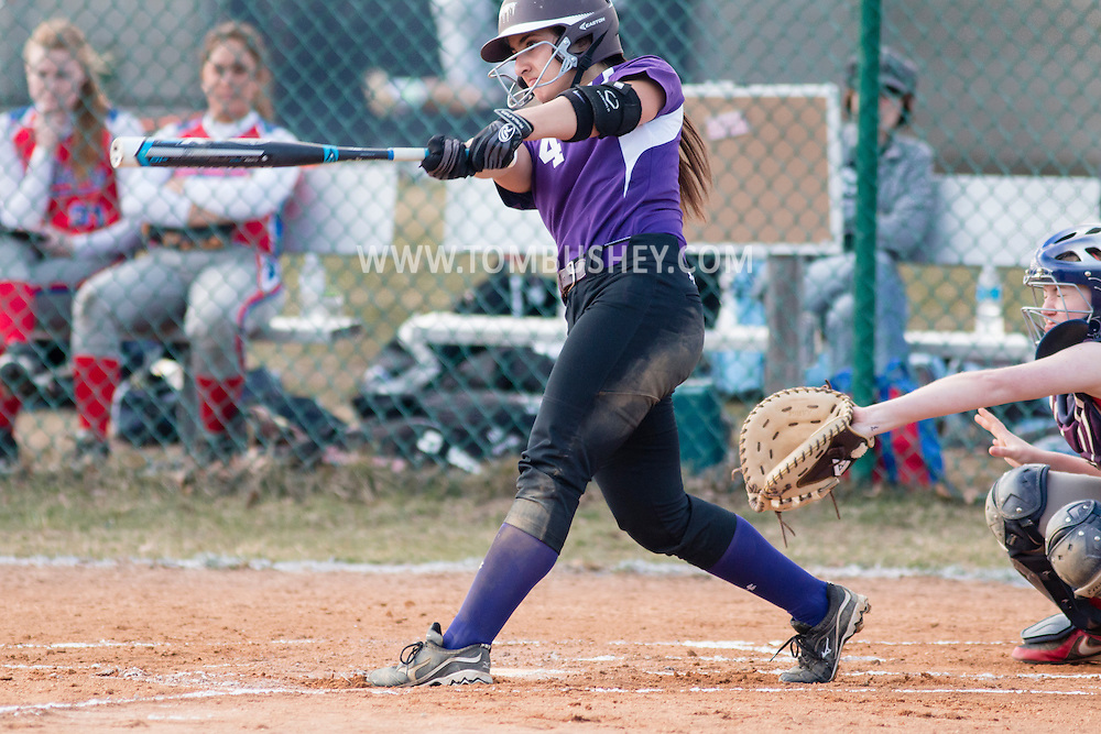 Goshen, New York - Warwick at Goshen varsity girls' softball April 6, 2015.