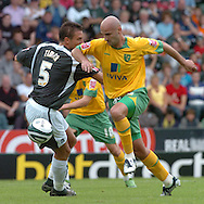 Plymouth -Saturday September 13th 2008:Krisztian Timar of Plymouth Argyle and Antoine Sibierski of Norwich City during the Coca Cola Championship match at Plymouth.(Pic by Tony Carney/Focus Images)