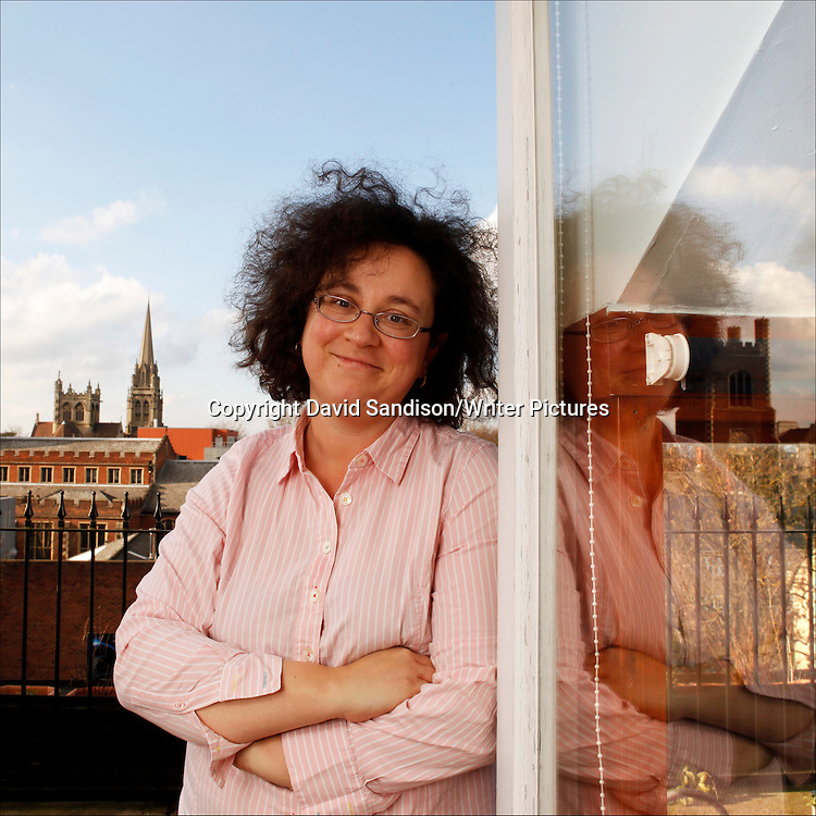 Sophie Hannah, English-born poet and novelist at her new home in Cambridge. With the view from her new writing room. Taken 2nd March 2010<br /> <br /> Picture by David Sandison/Writer Pictures<br /> <br /> WORLD RIGHTS