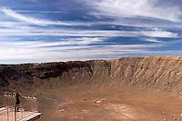 Tourist Looking Through Telescope, Meteor Crater, Arizona
