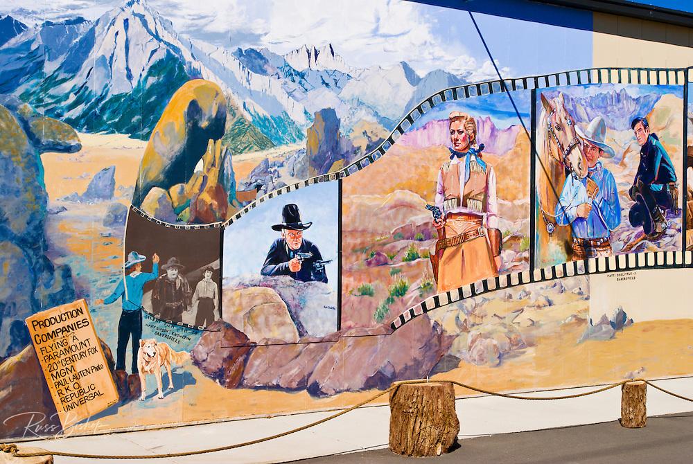 Western films mural at the Bevery and Jim Rogers Musuem, Lone Pine, California