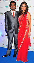 © under license to London News Pictures. 04/03/11.Nitin Ganatra and Laila Rouass attend Lebara British Asian Sports Awards , Saturday 5th March 2011 at the Grosvenor House Hotel, Park Lane, London. Photo credit should read alan roxborough/LNP