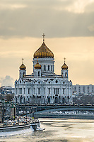 View of the Cathedral of Christ the Saviour and Moskva River in Moscow