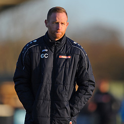 TELFORD COPYRIGHT MIKE SHERIDAN Gavin Cowan during the Vanarama Conference North fixture between Darlington and AFC Telford United at Blackwell Meadows on Saturday, November 30, 2019.<br /> <br /> Picture credit: Mike Sheridan/Ultrapress<br /> <br /> MS201920-032
