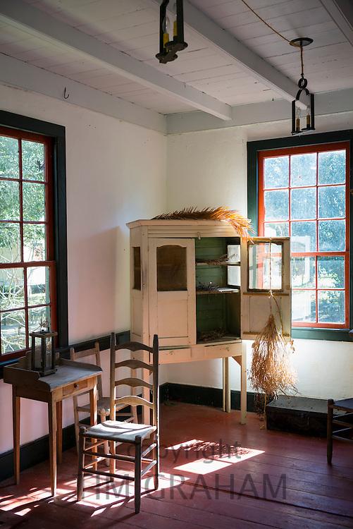 Interior at Vermilionville history museum of Acadian (Cajun), Creole, Native American cultures, Lafayette, Louisiana USA