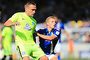 Marcus Maddison, Jamie Allen during the EFL Sky Bet League 1 match between Rochdale and Peterborough United at Spotland, Rochdale, England on 6 August 2016. Photo by Daniel Youngs.