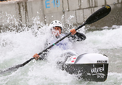 27.06.2015, Verbund Wasserarena, Wien, AUT, ICF, Kanu Wildwasser Weltmeisterschaft 2015, K1 women, im Bild Valentina Dreier (AUT) // during the final run in the women's K1 class of the ICF Wildwater Canoeing Sprint World Championships at the Verbund Wasserarena in Wien, Austria on 2015/06/27. EXPA Pictures © 2014, PhotoCredit: EXPA/ Sebastian Pucher