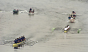 London. United Kingdom. 1998 Boat Race, Putney to Mortlake, Championship Course.  River Thames. 28.03.1998..Description: General views from Chiswick Bridge. Isis vs Goldie Race...Chiswick Bridge...Annual Varsity Boat Race - between Oxford University BC and Cambridge University BC. [Mandatory Credit; Peter Spurrier/Intersport-images]  ..Scanned in 2012 so has 2012  file No:.Rowing Varsity 2012 011110.jpg.. 19980328 University, Varsity,  Boat Race. London. UK