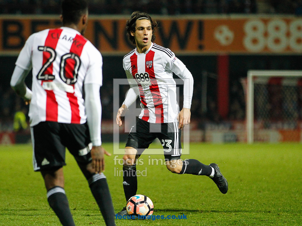 Jota of Brentford during the FA Cup 3rd round match between  Brentford and Eastleigh FC  at Griffin Park, London<br /> Picture by Mark D Fuller/Focus Images Ltd +44 7774 216216<br /> 07/01/2017