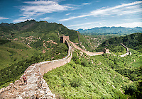The Great Wall of China between Jinshanling and Simatai.