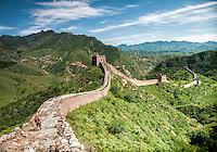 The Great Wall of China between Jinshanling and Simatai.