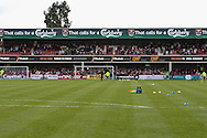 Picture by David Horn/Focus Images Ltd +44 7545 970036.27/04/2013.Crowd starts to fill up the stands before the npower League 1 match at Griffin Park, London.