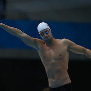 James Magnussen, Australia, winning the silver medal in the Men's 100m Final at the Aquatic Centre at Olympic Park, Stratford during the London 2012 Olympic games. London, UK. 1st August 2012. Photo Tim Clayton