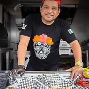 JULY 20, 2018---SAN JUAN, PUERTO RICO----<br /> Javier Sea&ntilde;ez, owner of Las Cucharas Comida Mexicana, at The Miramar Food Truck Park, in his food truck.<br /> (Photo by Angel Valentin/Freelance)
