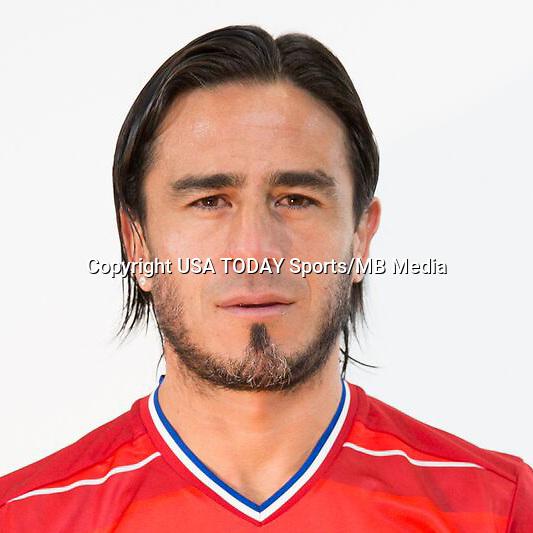 Feb 25, 2016; USA; FC Dallas player Mauro Rosales poses for a photo. Mandatory Credit: USA TODAY Sports